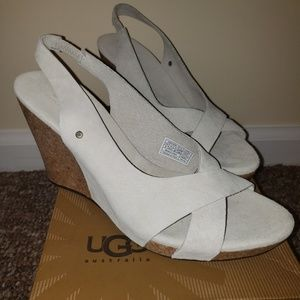 Ugg Wedge Sandals  size:8 color:marshmallow